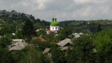 Orthodox church rising over the town