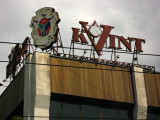 Signboard atop the Kvint factory