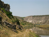 Cliffs overlooking the Răut