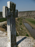 Stone cross atop the plateau