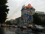 A rainy morning on Bulevardul Ştefan cel Mare