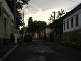 Gloomy light over a residential street
