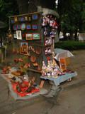 Souvenir stall near City Hall