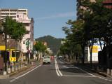 Ōmi Hachiman's cherry blossom-lined main street
