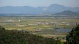 Rural plains and distant Biwa-ko