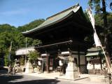 Main gate at Himure Hachiman-gū
