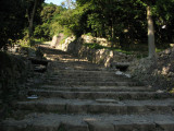 Steps leading to the former Ōte-mon, Azuchi-jō