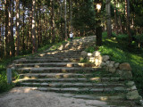 Steps leading to the Kurogane-mon