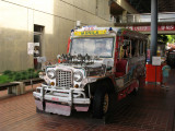 Philippine jeepney at the park entrance