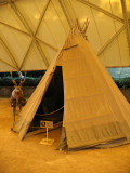 Replica of a Sami tent from Lappland, Sweden