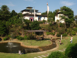Parkland below a Nepali Buddhist monastery