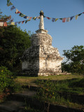 Buddhist stupa from Nepali in its small park