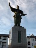 Statue of Ōda Nobunaga outside the station