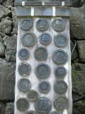 Assorted crest tiles of Himeji-jō