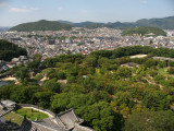 Himeji's northern suburbs from atop the donjon