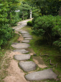 Path of stones in Oyashiki-no-niwa