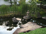 Pond and reeds in the Flat Landscape Garden
