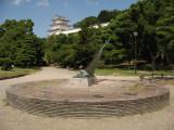 Sundial with distant Hitsujisaru-yagura