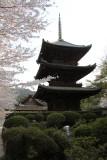 Three-tiered pagoda by Kanchō-dō