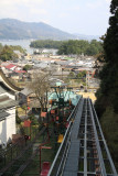 Ascending from Monju by monorail