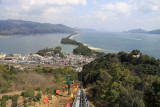 View over Amanohashidate from the monorail