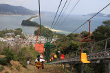Descending back to Monju by chair lift