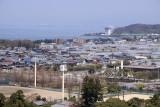 Residential neighborhood and Lake Biwa