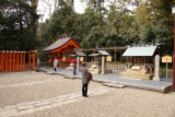Praying at an auxiliary shrine, Kono-jinja