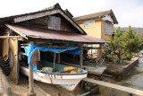 Funaya and docked boat