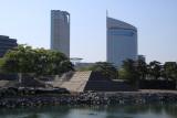 Ongoing donjon construction site in Tamamo-kōen