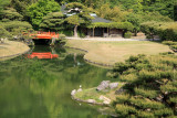 Pond view with Bairin-kyō bridge