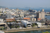 Imabari waterfront and distant Kurushima Kaikyō