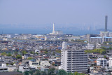 Marugame skyline with the Inland Sea beyond