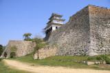 Marugame-jō and its massive walls