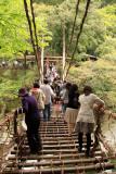 Crossing the kazura-bashi