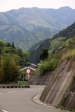 Road leading down to the Higashi Iya Folk Museum