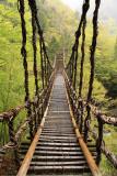 Looking across the empty bridge