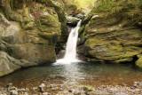 Waterfall by the Oku Iya vine bridges