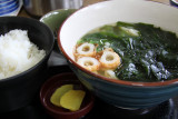 Wakame (seaweed) udon - a Naruto speciality
