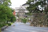 View down the path to the Tsukimi-yagura