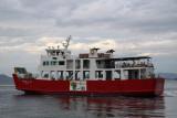 Megi-jima ferry setting off to sea