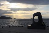 Sculpture on Takamatsu's waterfront