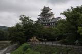Okayama Castle after the rain
