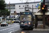 Streetcar at Okayama Ekimae Station