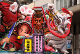 Samurai and horse on a nebuta float