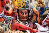 Closer view of the samurai figure