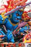 Detail of the blue demon