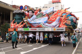 More peaceful image on the back of a nebuta float