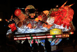 Nebuta-style float with warrior and dragons