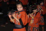 Young girls with flutes